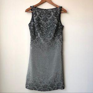 MM Lafluer Lydia Dapple Jacquard Sleeveless Dress